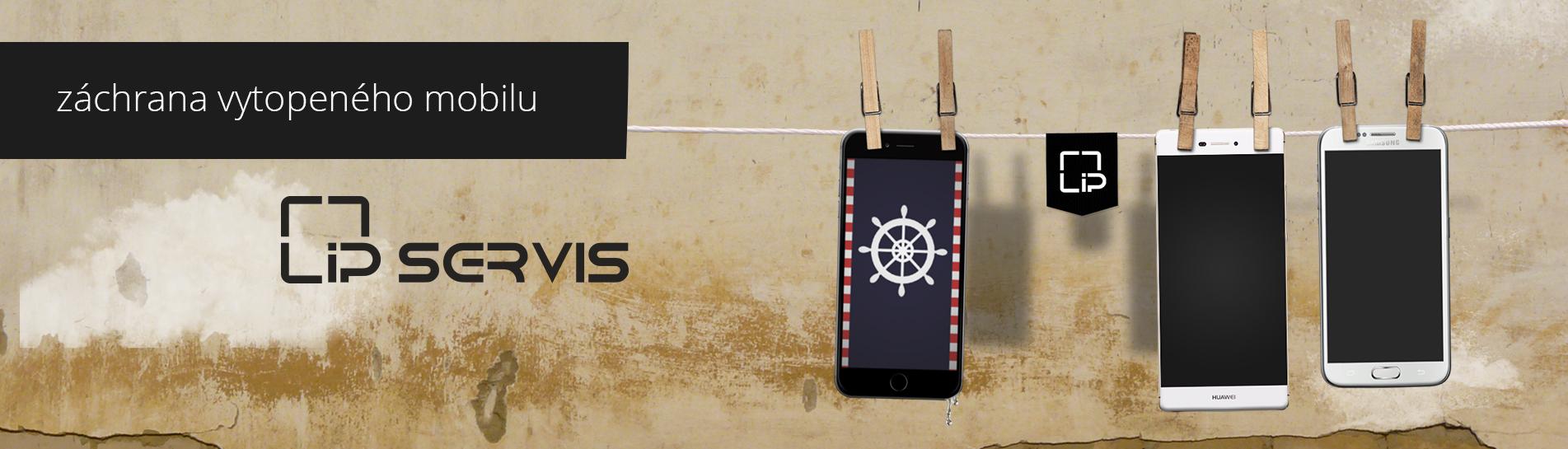 vytopený mobil