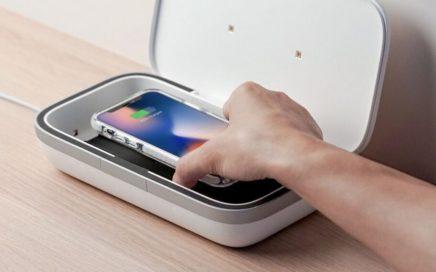UV Sterilizace mobilního telefonu